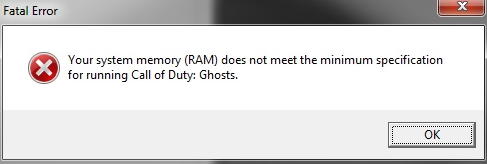 ������ ��� ������� ���� Call of Duty Ghosts.